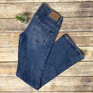 AEO The Artist Distressed Flared Denim Jeans